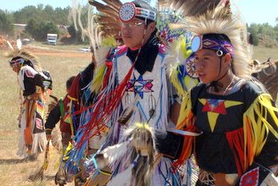 image of Native Americans at a powwow